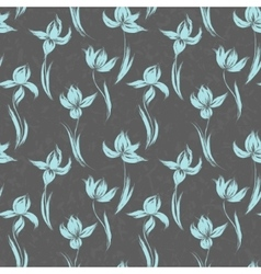 Garden flowers seamless pattern background vintage vector