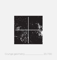 geometric simple shape in grunge retro style vector image