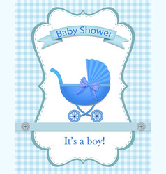 greeting card for a boy on bashower baby vector image