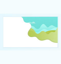 grounds and water abstract banner design page vector image