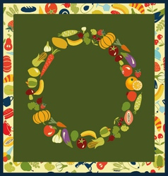 healthy life set Fruits and Vegetables healthy vector image