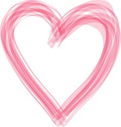 Heart paintbrush vector