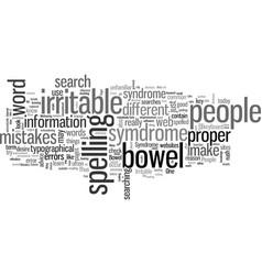 Irritable bowel symdrome vector