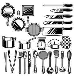 Kitchen ware collection vector