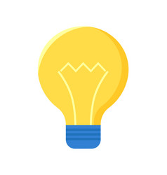 lamp bulb isolated on white electric lightbulb vector image