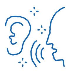 Listening to human singing vector