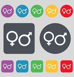 male and female icon sign A set of 12 colored vector image