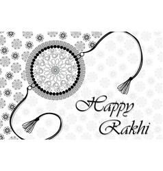 nt045 happy rakhi lineart vector image