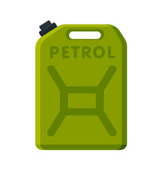 oil fuel jerrycan green canister for gasoline vector image