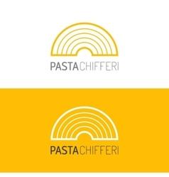 Pasta logo Logotype of food Linear icon vector image
