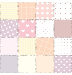 Pink patchwork vector image vector image