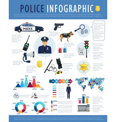 Police infographic for crime law justice design vector