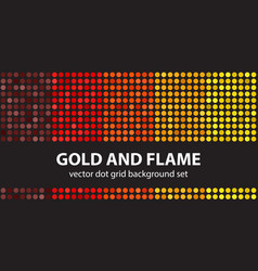 polka dot pattern set gold and flame seamless vector image