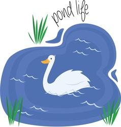 Pond life vector