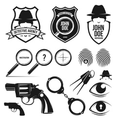private detective set vector image