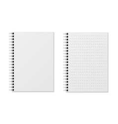 Realistic notebooks blank padded diary sketchbook vector