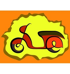 Retro scooter sign vector image