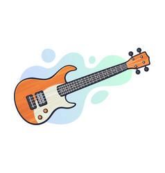 rock electro or bass guitar vector image