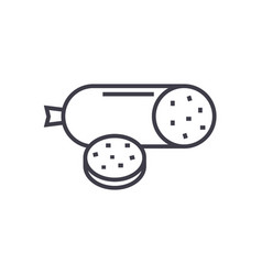 Salami line icon sign on vector
