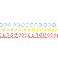 Seamless doodle border vector
