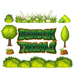 Set of garden object vector