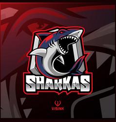 Shark sport mascot logo design vector