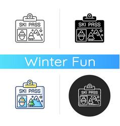 ski pass icon vector image