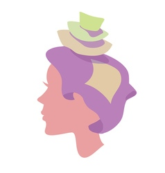 Sleepy women with pillow on head vector