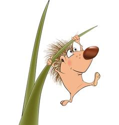 Small hedgehog vector image