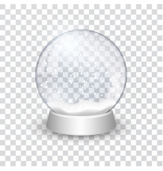 snow globe ball realistic new year chrismas vector image