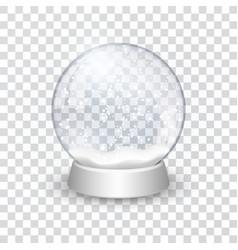 snow globe ball realistic new year chrismas vector image