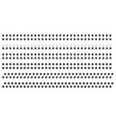 spirals for sheets set of spiral binder for vector image