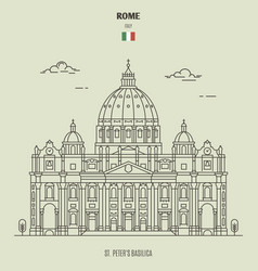 St peters basilica in rome italy vector