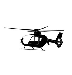 sticker on car silhouette of helicopter vector image
