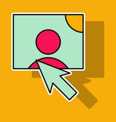 sticker web design elements picture mouse arrow vector image