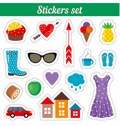 stickers set vector image vector image