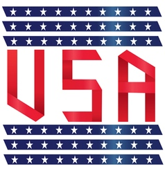 Stock Photo USA text ribbon style vector image