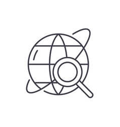 study line icon concept study linear vector image