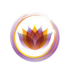 Stylish zen lotus abstract symbol vector