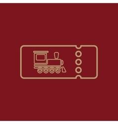The blank train ticket icon travel symbol flat vector