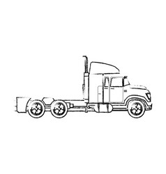 truck cabin trailer transport business vector image