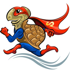 Turtle Superhero vector image