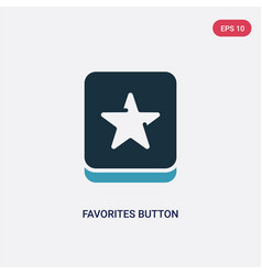 Two color favorites button icon from user vector