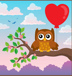 valentine owl topic image 7 vector image
