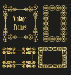 vintage golden frames collection vector image