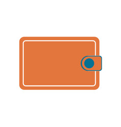 wallet flat icon vector image