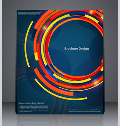abstract digital business brochure flyer design vector image