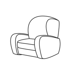 chair sofa seat outline vector image