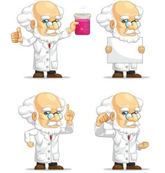 Scientist or Professor Customizable Mascot 3 vector image vector image