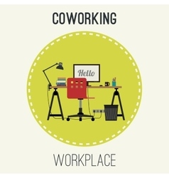 Workplace flat vector image